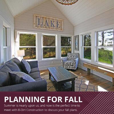 Start Planning for Fall!
